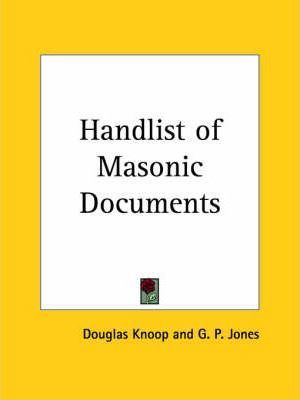 Handlist of Masonic Documents (1942)