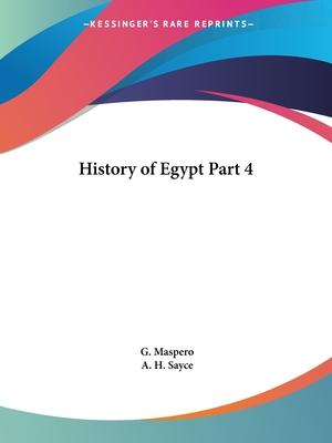 History of Egypt: v. IV
