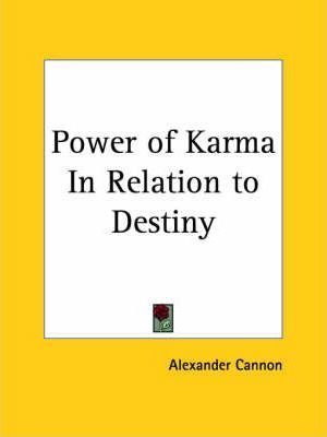 Power of Karma in Relation to Destiny (1937)