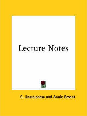Lecture Notes (1930)