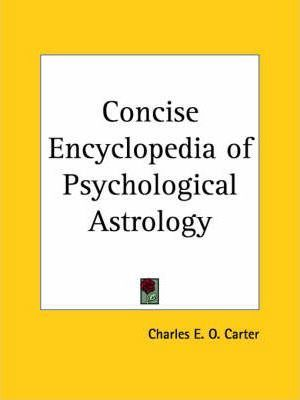 Concise Encyclopedia of Psychological Astrology (1924)