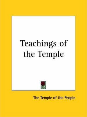Teachings of the Temple (1925)
