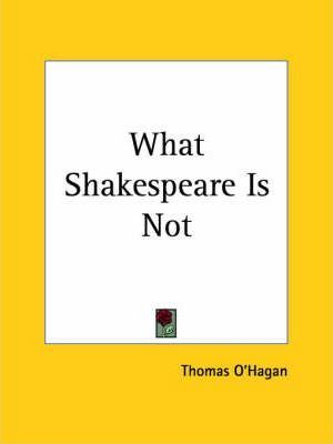 What Shakespeare is Not (1936)