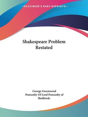 Shakespeare Problem Restated (1937)