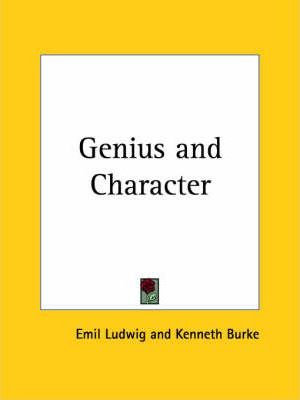 Genius and Character (1927)