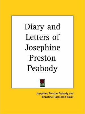 Diary and Letters of Josephine Preston Peabody (1925)