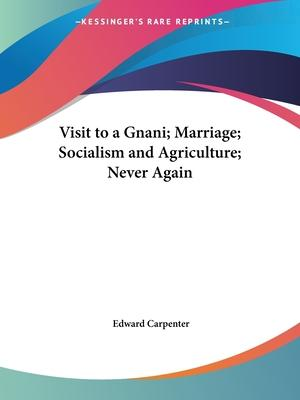 Visit to a Gnani; Marriage; Socialism and Agriculture; Never Again (1905)