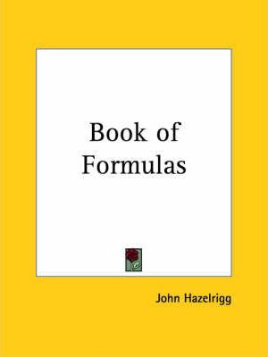 Book of Formulas (1904)