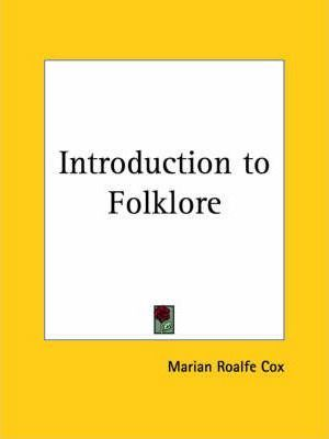 Introduction to Folklore (1904)