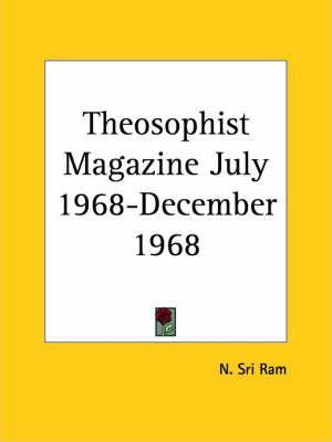 Theosophist Magazine (July 1968-December 1968)