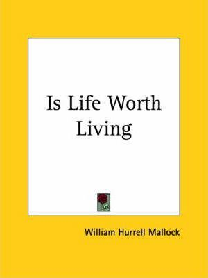 Is Life Worth Living (1879)