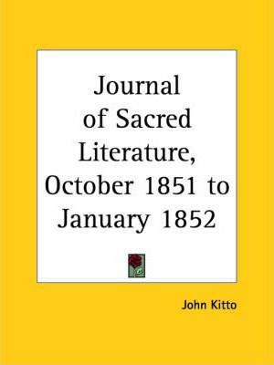 Journal of Sacred Literature (October 1851-January 1852)