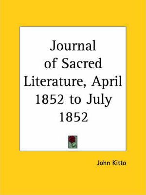 Journal of Sacred Literature (April 1852-July 1852)