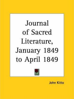 Journal of Sacred Literature (January 1849-April 1849)