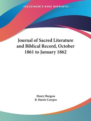 Journal of Sacred Literature and Biblical Record (October 1861-January 1862)