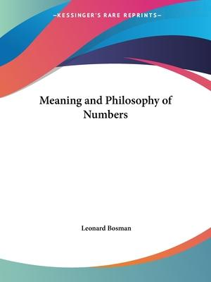 Meaning and Philosophy of Numbers (1932)