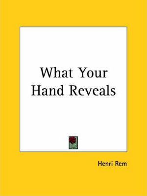 What Your Hand Reveals (1922)
