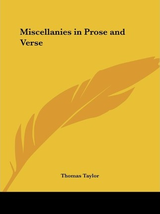 Miscellanies in Prose and Verse (1820)