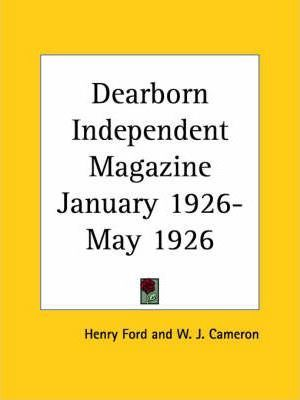 Dearborn Independent Magazine (January 1926-May 1926)