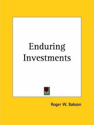 Enduring Investments (1922)