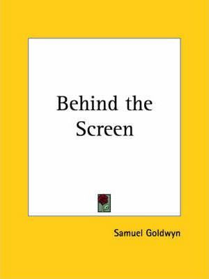 Behind the Screen (1923)