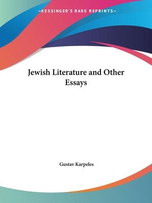 Jewish Literature and Other Essays (1895)