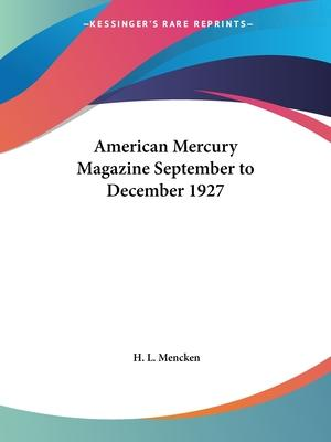 American Mercury Magazine (September to December 1927)