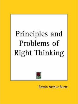 Principles and Problems of Right Thinking (1928)
