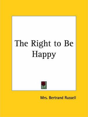 The Right to be Happy (1927)