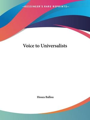 Voice to Universalists (1849)