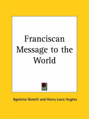 Franciscan Message to the World