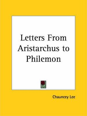 Letters from Aristarchus to Philemon (1833)