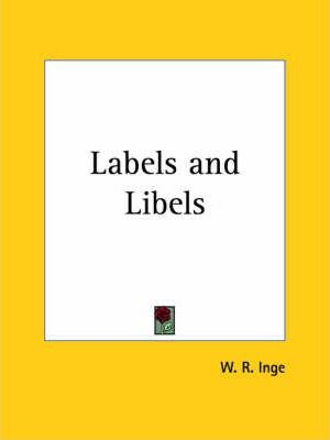 Labels and Libels (1929)