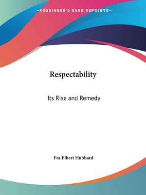 Respectability: Its Rise and Remedy (1905)