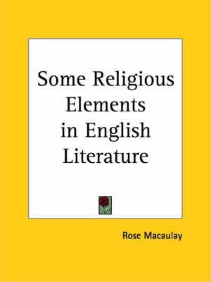 Some Religious Elements in English Literature (1931)