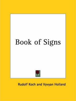 Book of Signs (1930)