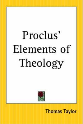 Proclus' Elements of Theology