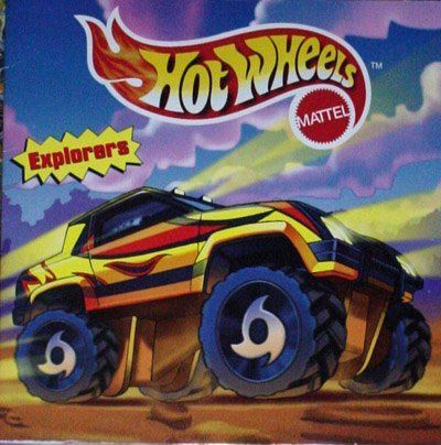 Hot Wheels 8x8 Storybook - Explorers