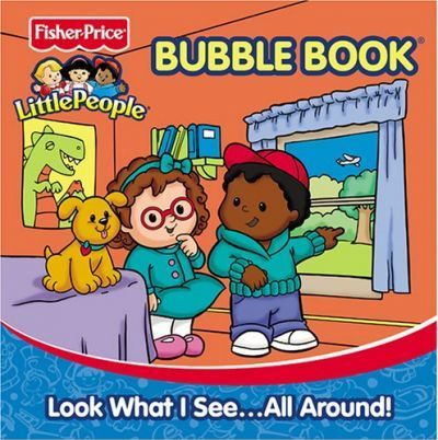 Fisher Price Little People Bath Books -Look What I Seeall Around