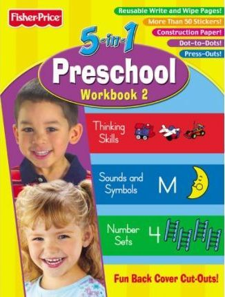Fisher Price Preschool 5 in 1 Workbook - Book Two