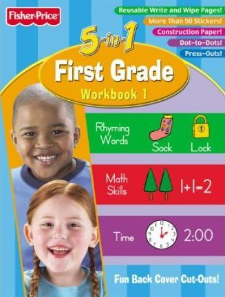 Fisher Price First Grade 5 in 1 Workbook - Book One