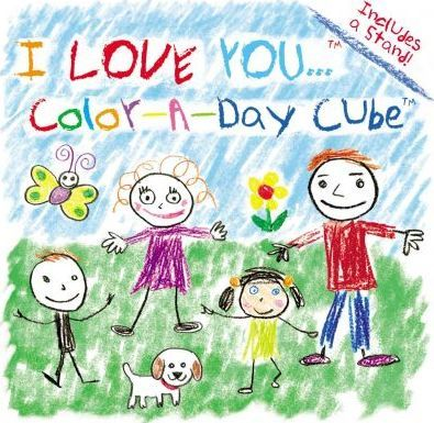 I Love You - Color a Day Cube