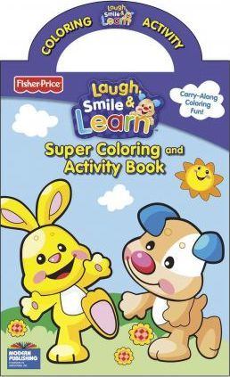Fisher Price Laugh Smile Learn Super Color Book With Handle