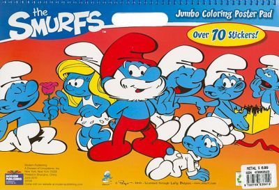 The Smurfs Jumbo Coloring Poster Pad