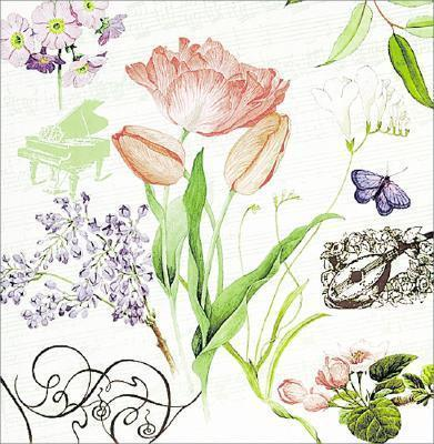 3-Ring Pocket Page Photo Album Symphony of Spring