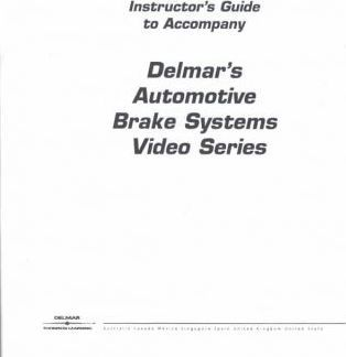 Brake Systems Video Series