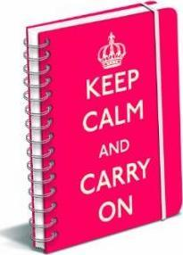 Keep Calm and Carry on Red Polypro Journal