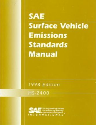 Surface Vehicle Emissions Standards Manual 1998