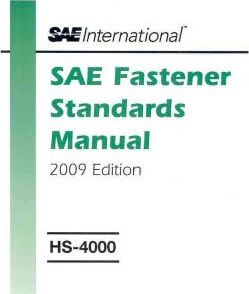 SAE Fastener Standards Manual 2009