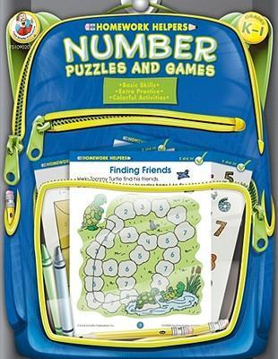 Number Puzzles and Games, Homework Helpers, Grades K-1